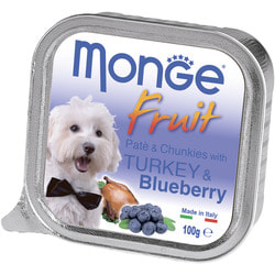 Monge Dog Fruit консервы для собак индейка с черникой