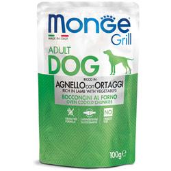 Monge Dog Grill Pouch паучи для собак ягненок с овощами