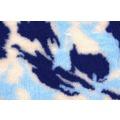 ProFleece Коврик меховой камуфляж синий/голубой/белый