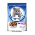 PreVital Сlassic Паучи для кошек с телятиной кусочки в соусе