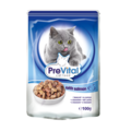 PreVital Сlassic Паучи для кошек с лососем кусочки в соусе