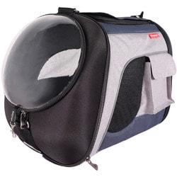 Ibiyaya Складная сумка-рюкзак с окном для собак и кошек до 8 кг синий-серый
