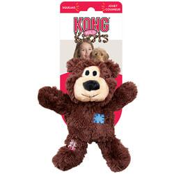 Kong Игрушка для мелких и средних собак WildKnots Мишка с канатом внутри