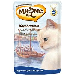 Мнямс Паучи для кошек Блюда Высокой Кухни Катаплана по-португальски (с форелью)
