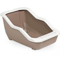 MPS Туалет-лоток высокий для кошек с бортом Netta Open, 54х39х29h