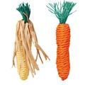 Trixie Набор игрушек для грызунов Морковь и Кукуруза