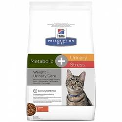 HILL'S Диета сухой корм для кошек Metabolic+Urinary stress для коррекции веса + урология