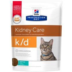 HILL'S Диета сухой корм для кошек K/D лечение заболеваний почек, профилактика МКБ оксалаты, ураты Тунец