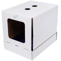 Антицарапки Домик картонный для кошек Белый