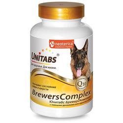 Unitabs BreversComplex с Q10 Витамины для собак крупных пород с пивными дрожжами