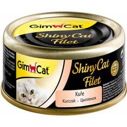 Консервы GimCat ShinyCat Filet для кошек из цыпленка в бульоне
