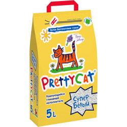 PrettyCat Наполнитель комкующийся для кошачьих туалетов Cупер белый с ароматом лаванды