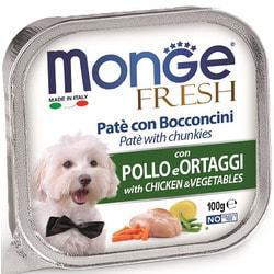 Консервы Monge Dog Fresh для собак курица с овощами