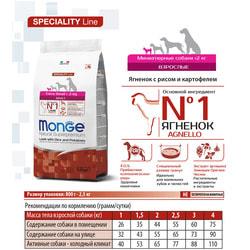 Monge Dog Speciality Extra Small корм для собак миниат. пород ягненок с рисом и картофелем