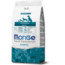 Сухой корм Monge Dog Speciality Hypoallergenic корм для собак гипоаллергенный лосось с тунцом