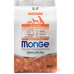 Monge Dog Speciality Puppy&Junior корм для щенков всех пород лосось с рисом