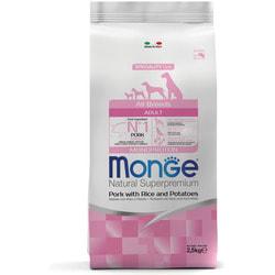 Monge Dog Speciality корм для взрослых собак всех пород свинина с рисом и картофелем