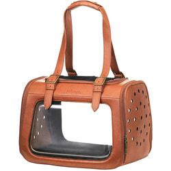Ibiyaya Складная сумка-переноска для собак и кошек до 6 кг прозрачная/коричневая кожа