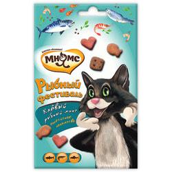 Мнямс Рыбный фестиваль для кошек лосось, креветки, форель