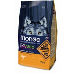 Monge Bwild Dog Ostrich корм для взрослых собак всех пород с мясом страуса