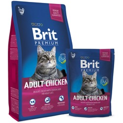 Brit Premium Cat Adult Chicken сухой корм для кошек Курица с куриной печенью