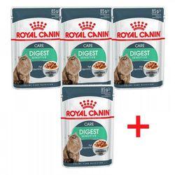Royal Canin Набор 3+1 Digest Sensitive пауч для кошек с чувствительным пищеварением кусочки в соусе Мясо