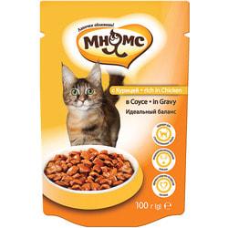 Мнямс Паучи с курицей в соусе для кошек идеальный баланс