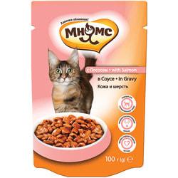 Мнямс Паучи с лососем в соусе для кошек, кожа и шерсть