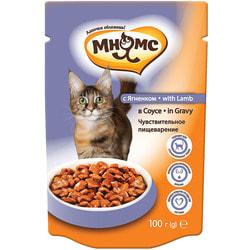 Мнямс Паучи с ягненком в соусе для кошек, чувствительное пищеварение