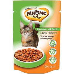 Мнямс Паучи с кроликом в соусе для кошек, чувствительное пищеварение