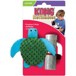 Kong Игрушка для кошек Черепашка с тубом кошачьей мяты