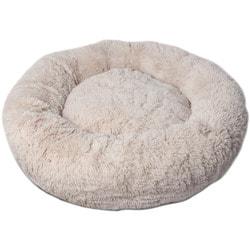 Lion Лежак Пончик (Donut) Бежевый со съемным чехлом для крупных собак