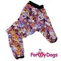 ForMyDogs Комбинезон для больших собак на флисе Монстрики, девочка