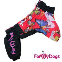 ForMyDogs Комбинезон для больших собак Бабочки, девочка