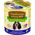 Деревенские лакомства Консервы Домашние обеды для взрослых собак Тушеный кролик с сердечками и шпинатом