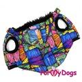 ForMyDogs Куртка для собак Пэчворк со съемным капюшоном