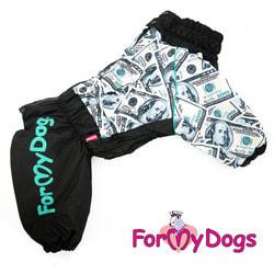 ForMyDogs Теплый комбинезон для больших собак Бакс мех+синтепон, мальчик