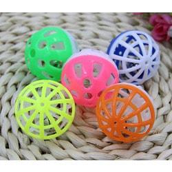Антицарапки Игрушка для кошек пластиковый шарик с бубенчиком №1