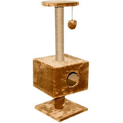 Дарэлл Домик-когтеточка квадратный на подставке