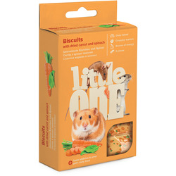 Little One Бисквиты с морковью для хомяков, крыс, мышей и песчанок