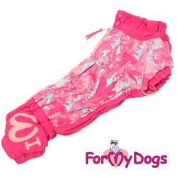 ForMyDogs Комбинезон для такс Розовый на меху на девочку