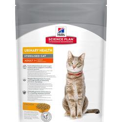 Сухой корм HILL'S Science Plan Urinary Sterilised, для стерилизованных кошек и кастрированных котов, с курицей