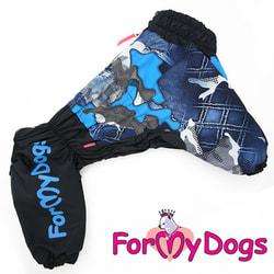 ForMyDogs Дождевик для больших собак синий, мальчик