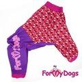ForMyDogs Дождевик для больших собак розовый, девочка