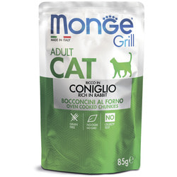 Monge Cat Grill Pouch паучи для взрослых кошек итальянский кролик