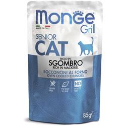 Monge Cat Grill Pouch паучи для пожилых кошек эквадорская макрель