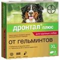 Bayer Дронтал плюс со вкусом мяса для собак крупных пород