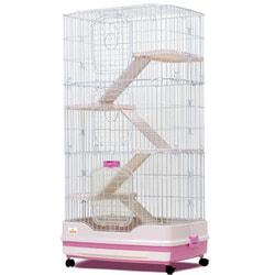 Kredo Клетка для грызунов (кроликов, шиншилл и хорьков) 3-х секционная на колесах