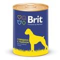 Brit Консервы с говядиной и пшеном для взрослых собак всех пород