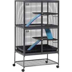 MidWest Клетка для крыс, шиншилл, хорьков, летяг, ежей, дегу 2 этажа